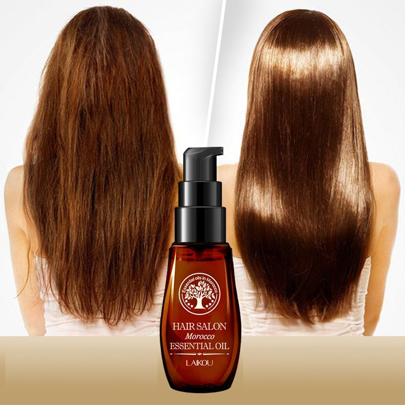 Hot Multi-functional Hair & Scalp Treatments Hair Care Moroccan Pure Argan Oil Hair Essential Oil for Dry Hair Types TSLM1
