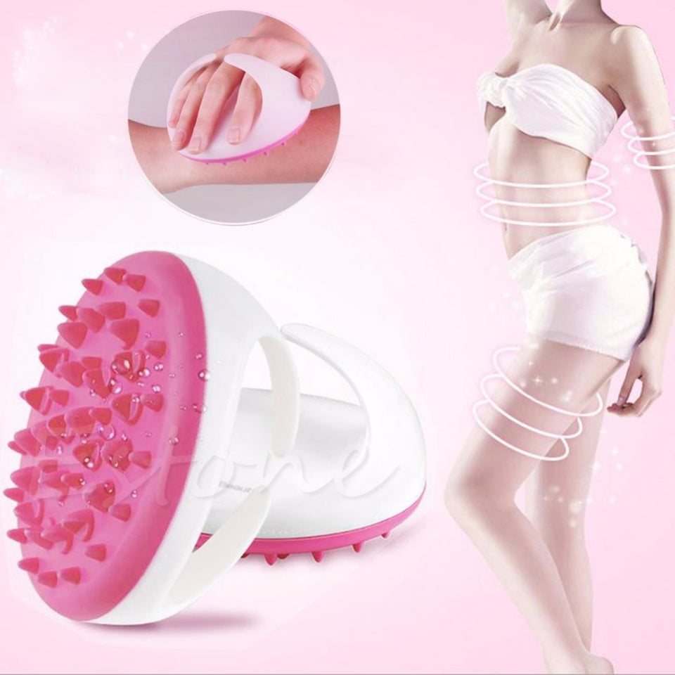 New Handheld Bath Shower Anti Cellulite Full Body Massage Brush Slimming Beauty Pink/Blue/Green 3 Color