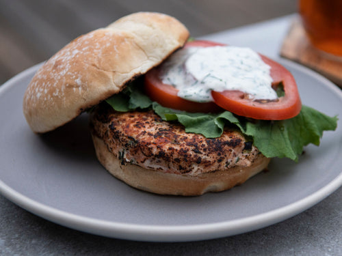 Fish, Salmon Burgers (2 patties) (Frozen)