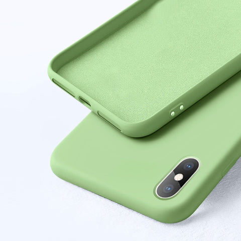 Suede Silicone Case for iPhone
