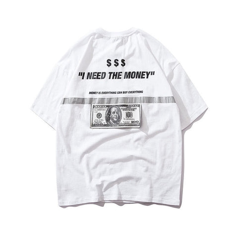 US Dollar Reflective Strip T-shirts
