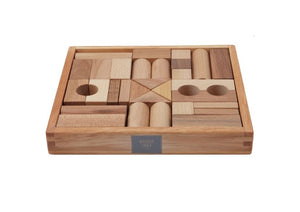 "natural blocks in tray ""30 piece set"""