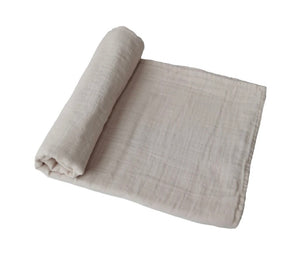 muslin organic cotton swaddle (fog)