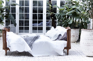 "Bonne Mere king single bedspread and pillow set ""white"""