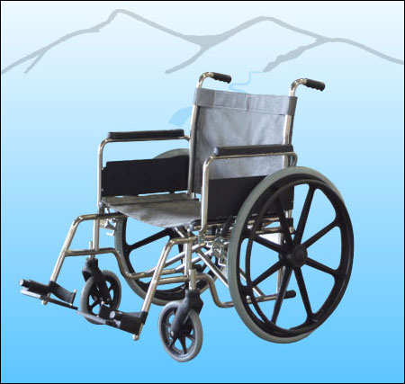 Stainless Steel Pool Access Folding Wheelchair 1