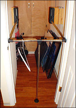 Pull Down Closet Rod special