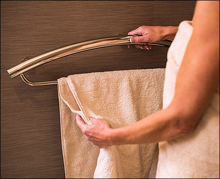 Invisia 2-in-1 Towel Bar with Integrated Bar
