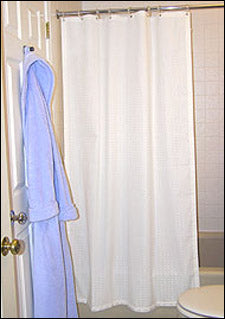 Weighted Shower Curtains (Select Options) 2