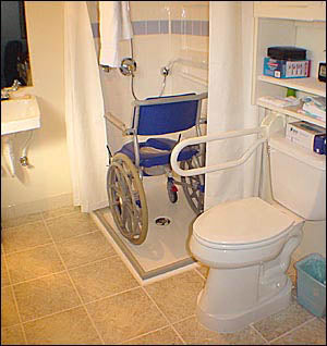 2-Wall Wheelchair Accessible Shower