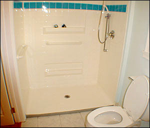 3-Wall Wheelchair Accessible Shower