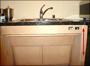 Designer Height Adjustable Electric Kitchen Sink