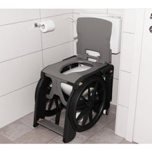 Load image into Gallery viewer, Wheelable Commode Shower Chair