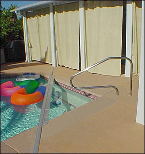 Custom Pool Rail