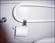 Load image into Gallery viewer, Fold Down Grab Bar with Optional Toilet Paper Holder