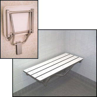 Fold Down Shower Bench