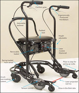 Parkinson's Walker with Laser U-tep Walker