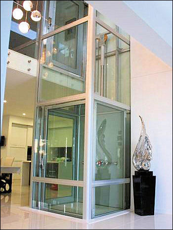 Residential Glass Elevator