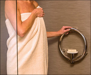 Invisia 2-in-1 Soap Dish with Integrated Circular Grab Bar
