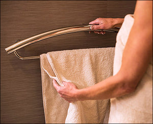 Invisia 2-in-1 Towel Bar with Integrated Grab Bar