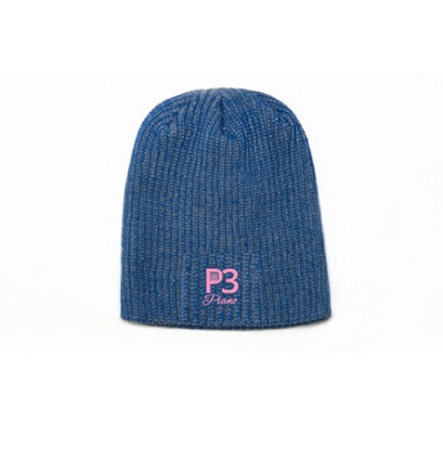Black P3 Piano Embroidered Beanie