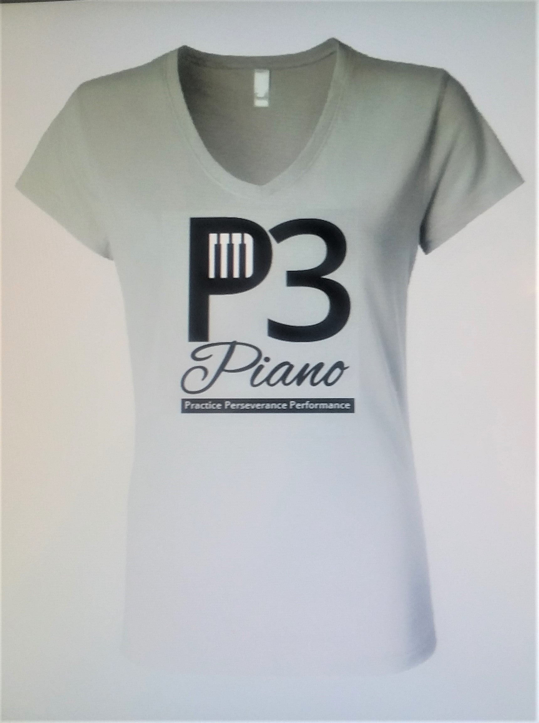 Never Throw Away Style Guide P3 Piano Light Grey Double Sided T Shirt