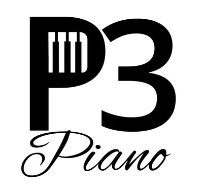P3 Piano Light Grey Double Sided T Shirt