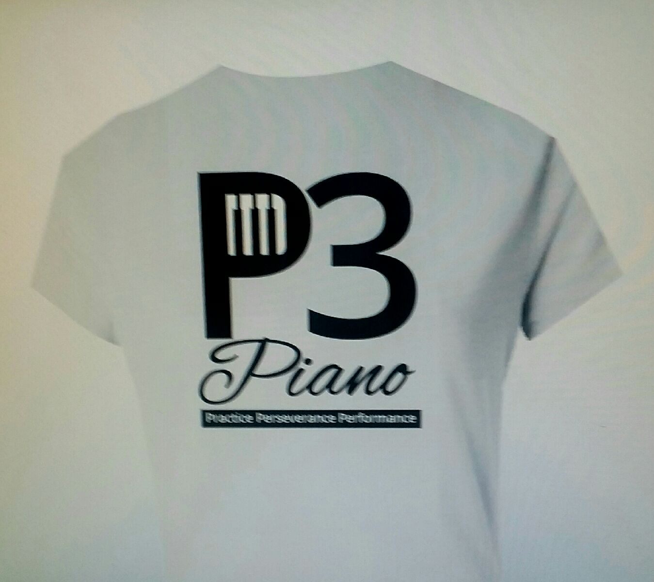 P3 Piano Child / Girls Double Sided Light GreyT Shirt