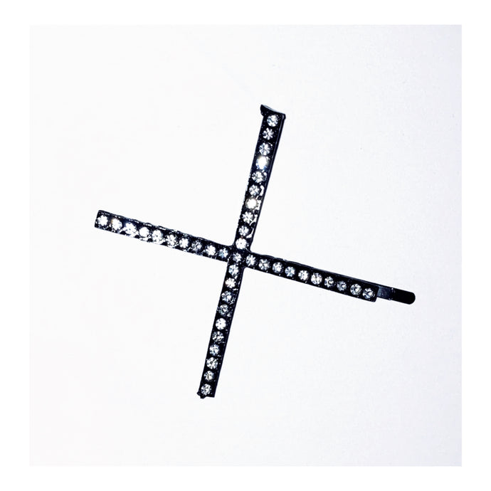 Icey Cross Hair Pin