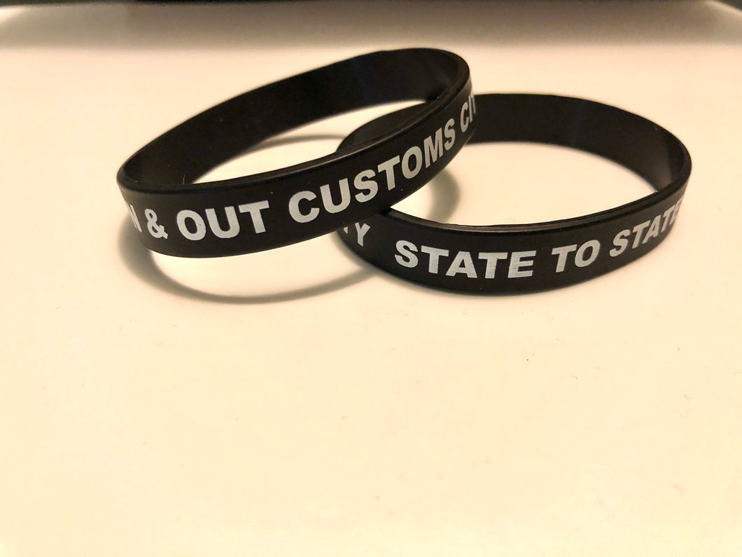 In & Out Customs Wristbands