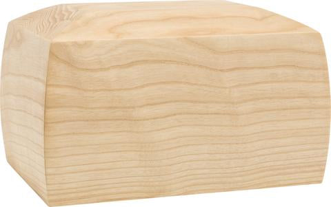 Simple Wooden Urn White Background