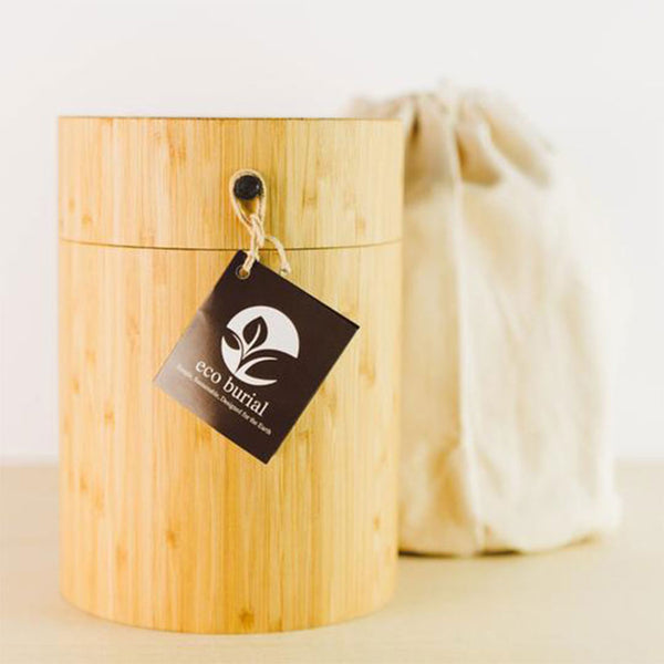 Image of Bamboo Biodegradable Burial Urn for Pets Ashes