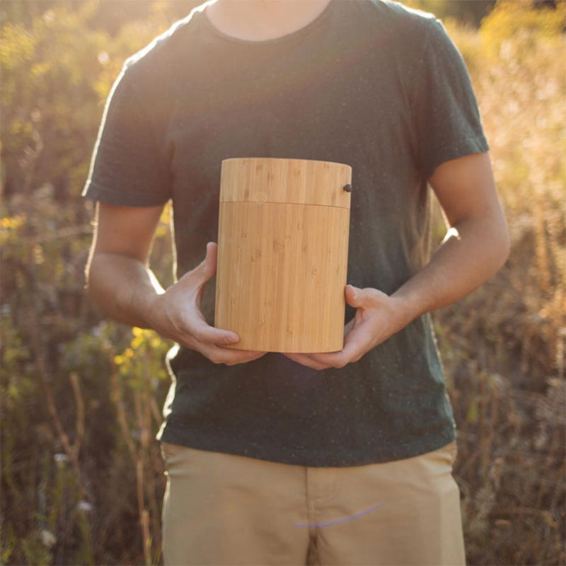 Bamboo Biodegradable Burial Urn for Pets Ashes