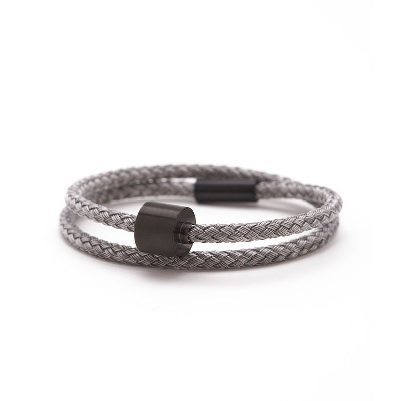 Braided Stainless Steel Ashes Bracelet Black Edition