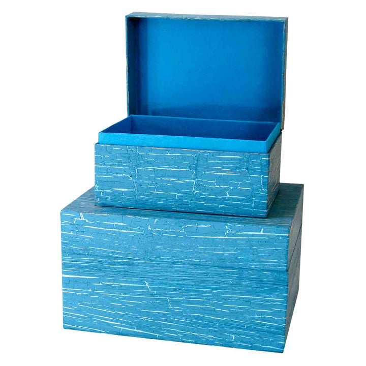 Image of EarthUrn chest in colour embossed blue