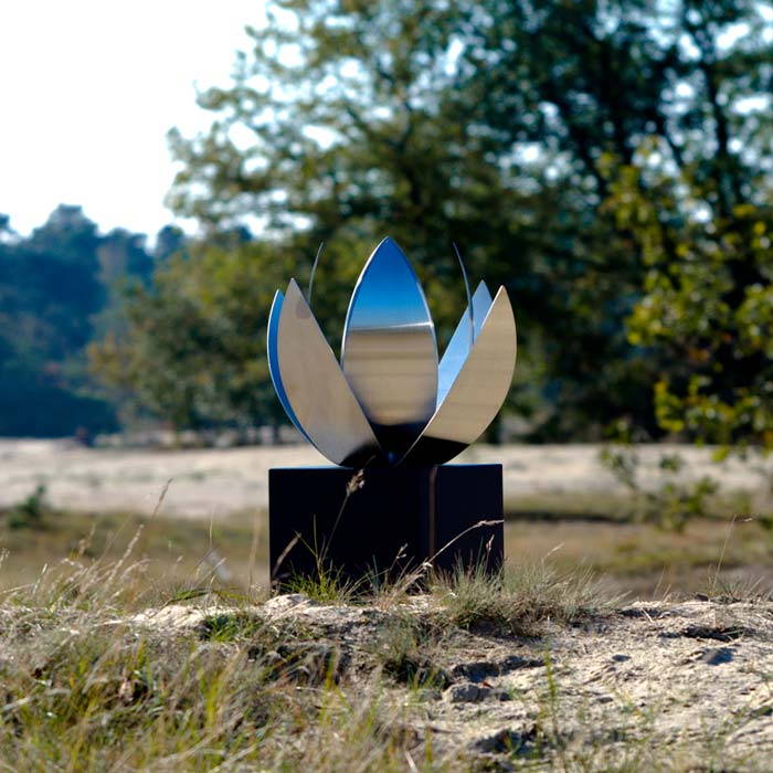 Lotus Cremation Urn For Ashes Stainless Steel