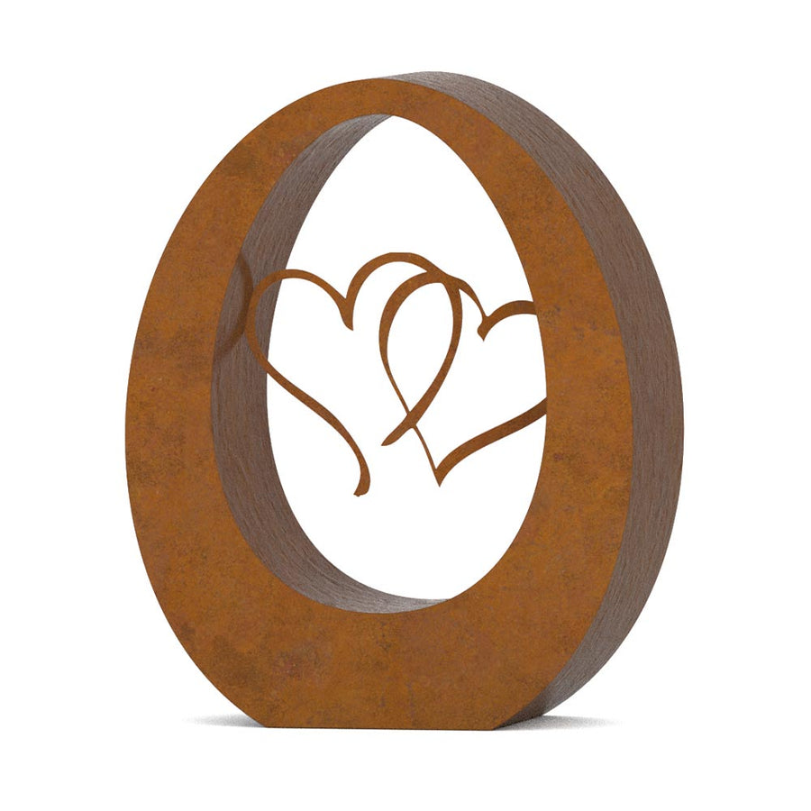 Oval Cremation Urn For Ashes Corten Steel