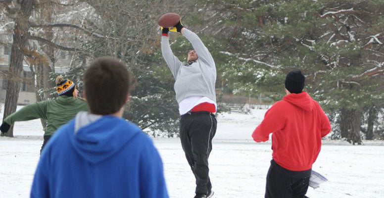 Backyard Winter Football