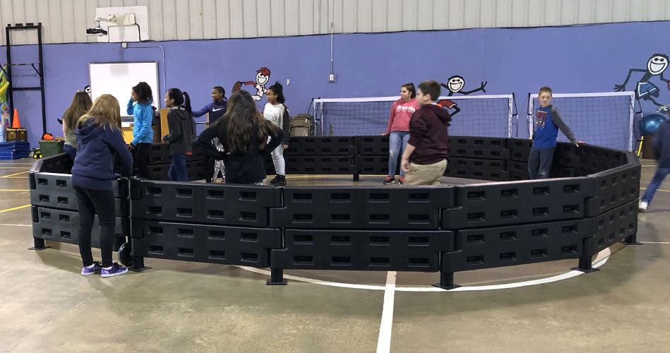 Our gaga pits can be installed both indoors and outdoors