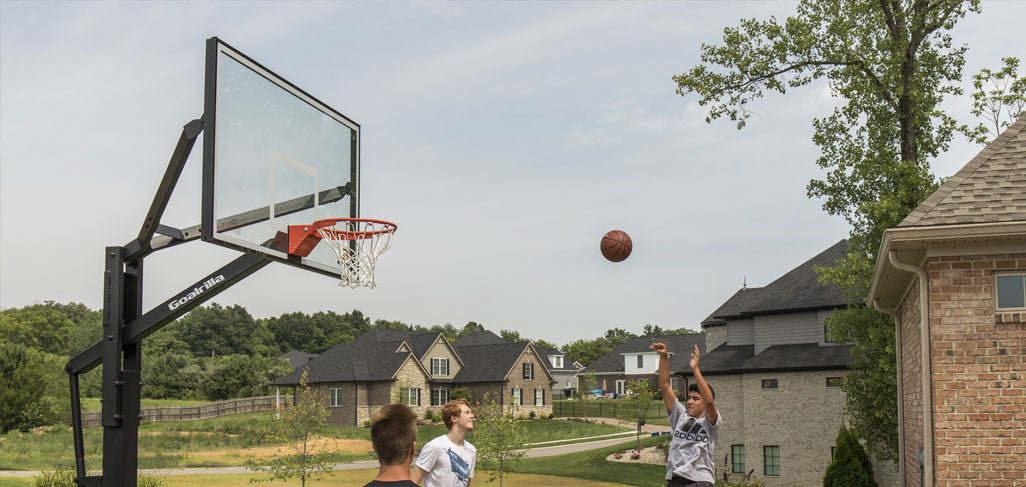 See our full line of in ground basketball hoops from top brands like Goalrilla basketball hoops and Goalsetter basketball hoops