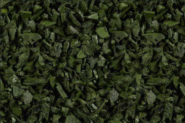 Rubber Playground Mulch - Green - 2000 lbs Pallet