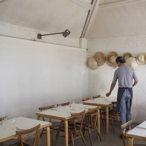 The interior of Rochelle Canteen where Margot Henderson is the chef.