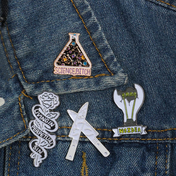 Cute Punk Enamel Pins | Green Witch Creations - greenwitchcreations
