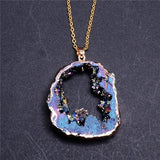Druzy Crystal Necklaces - greenwitchcreations