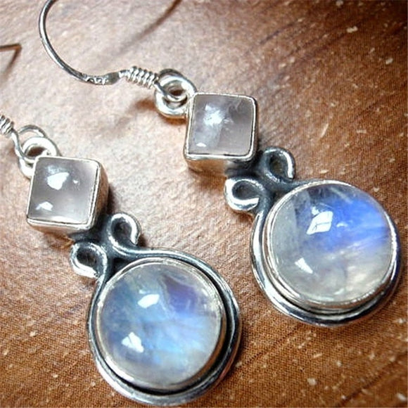 Vintage Moonstone Earrings | Crystal Jewelry - greenwitchcreations