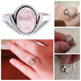 Rose Quartz and Moonstone Rings - greenwitchcreations