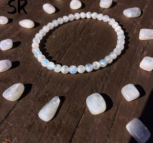 Rainbow Moonstone Bracelets | Green Witch Creations - greenwitchcreations
