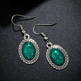 Malachite Earrings | Green Witch Creations - greenwitchcreations