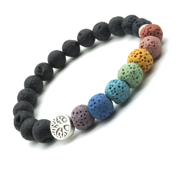 Lava Rock Chakra Bracelets | Green Witch Creations - greenwitchcreations