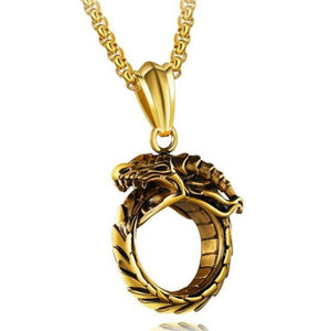 Ouroboros Serpent Necklace | Green Witch Creations