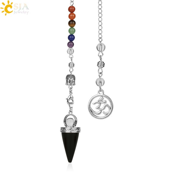 Buddha OM Chakra Pendulums | Green Witch Creations - greenwitchcreations